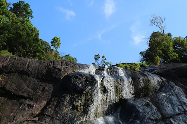 This is the Seven Wells waterfall. Telaga Tujug waterfall.