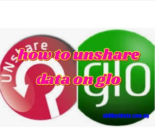how to unshared data on glo