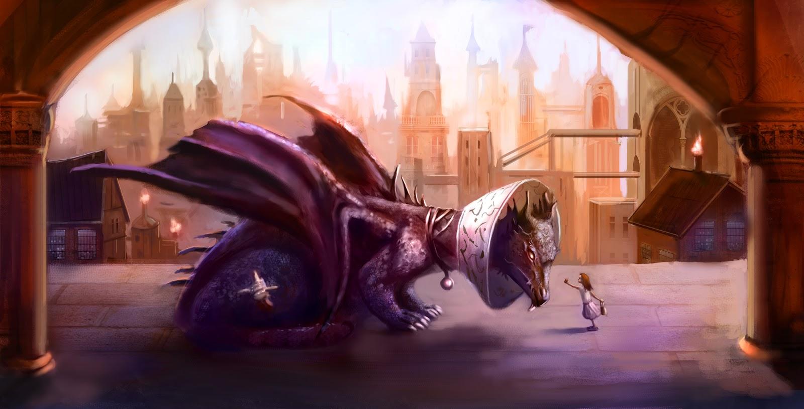 Girl using dragon dildo