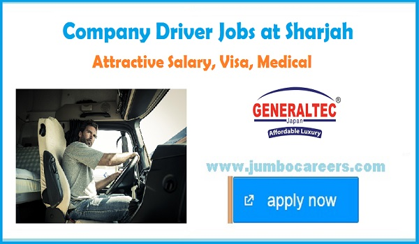 Pick up driver jobs in Sharjah with salary and benefits, Gulf drivers jobs latest,