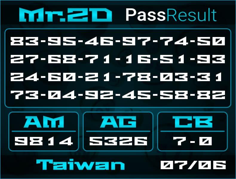 Mr.2D - Bocoran Togel Taiwan