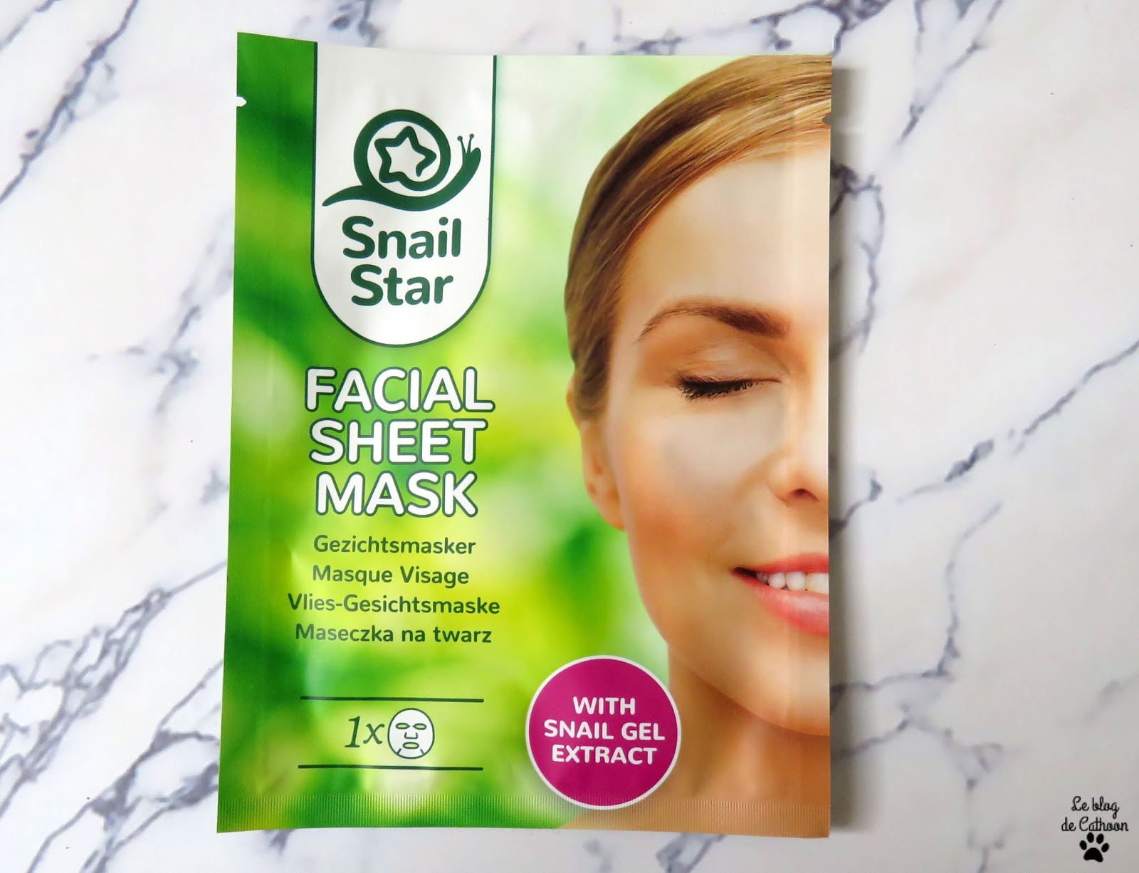 Snail Star - Facial Sheet Mask - Action