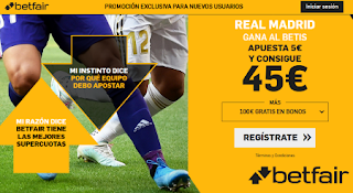 betfair supercuota Real Madrid vs Betis 2 noviembre 2019