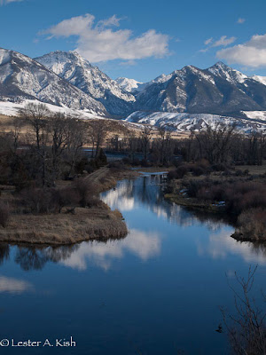 View of the Absaroka Mountains from DePuy Spring Creek