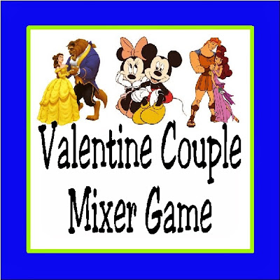 Get your Valentine party started and the party guests mixing with this fun Disney couple party game.   It's easy and fun and will get the guests talking and interacting with each other so they will have a fun time. #disney #valentinesday #valentinesdaygame #partygame #disneygame #diypartymomblog