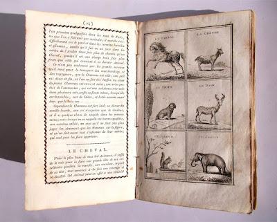 Livre du second age - Libro illustrato di Scienze - anno 1801 - annunci