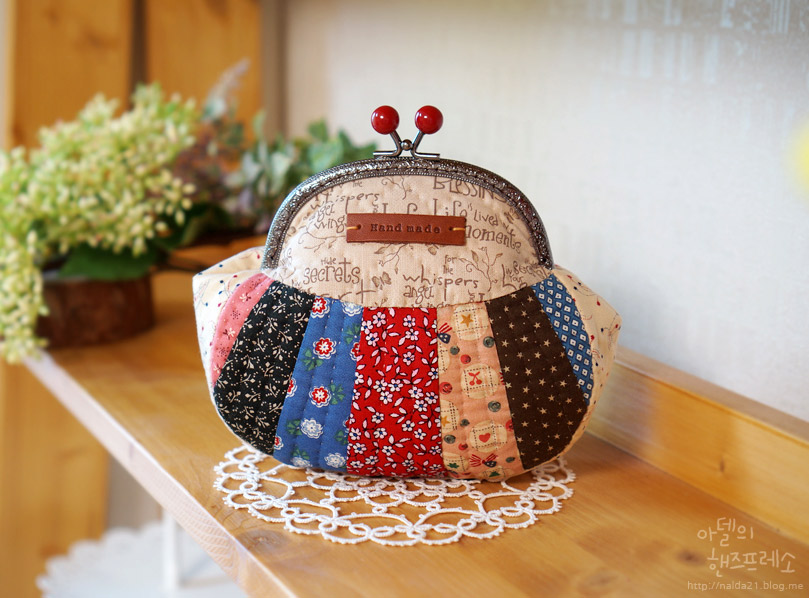 Snap Frame Patchwork Purse Pouch. Photo Tutorial. Step by step DIY.