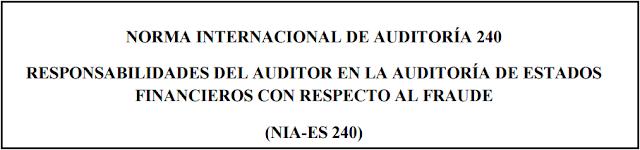 NIA 240 Fraude