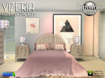 Pecrio Modern living room Vizeria спальня для взрослых для The Sims 4 Текстура дерева и плетения, для этого установлены 4 оттенка. двуспальная кровать. конец таблицы торшер. настольная лампа. 2 слойки, 2 стиля, 2 текстуры. найти в районе жилой стул. подушки деко для кровати. одеяло кровать для кровати, 2 стилей. настенные росписи нормальные. музыкальная шкатулка, найти в области аудио. Автор: jomsims