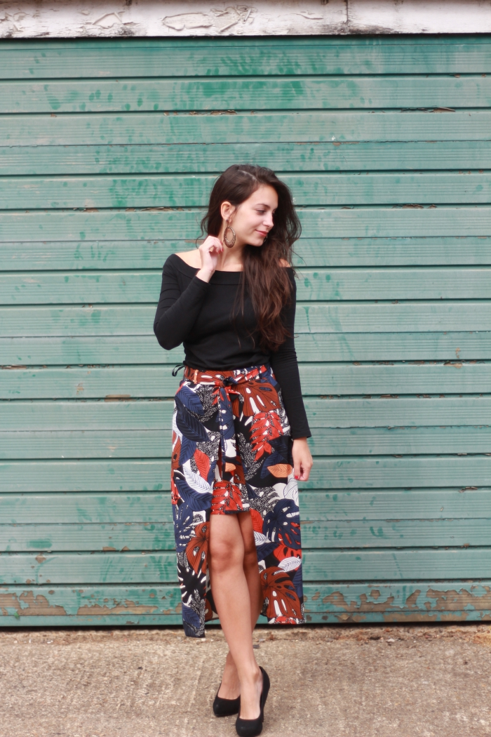 Leaf patterned skirt Primark