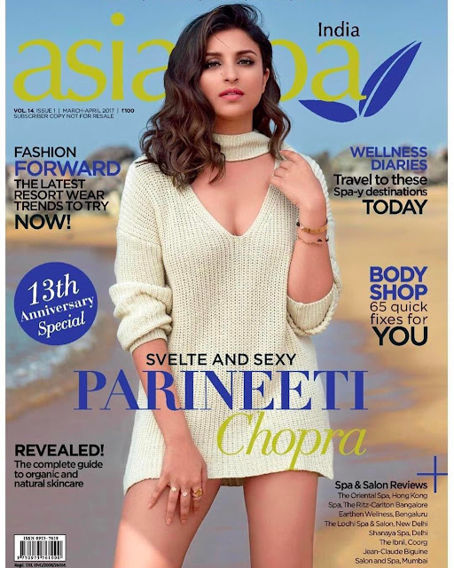 Parineeti Chopra On The Cover Of Asia Spa India Magazine March-April 2017 Issue