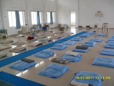 Vipassana Meditation Hall at Bangalore for Group Meditation: Inside View