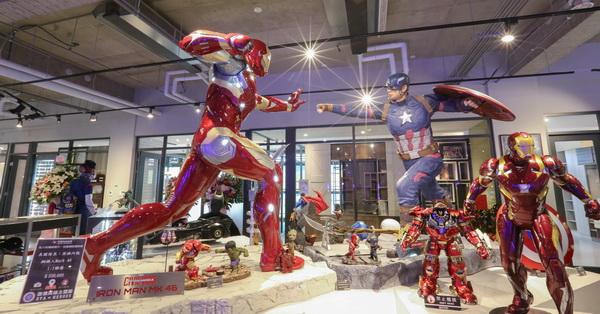 台中北屯|歐雅英雄主題館,超過20座1:1英雄雕像、旋轉溜滑梯、彩色球池,還有室內設計展示區