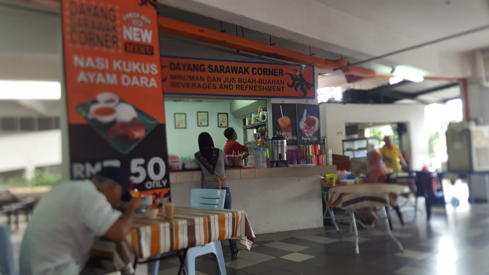 Tanpa Berlengah Saya Ajak Wife Dan Anak2 Bersiap Terus Kami Gerak Ke Sg Besi Menuju Dayang Sarawak Corner