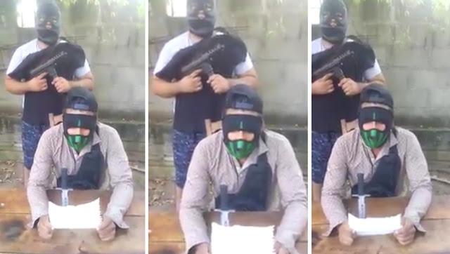 """VIDEO; """"Con la gente del """"Mencho"""" no se juega"""", Miembros del CJNG amenazan a vendedores de autos."""