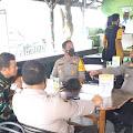 Kapolres Samosir AKBP Josua Tampubolon Silaturahmi ke Asmil Koramil 03/Pangururan