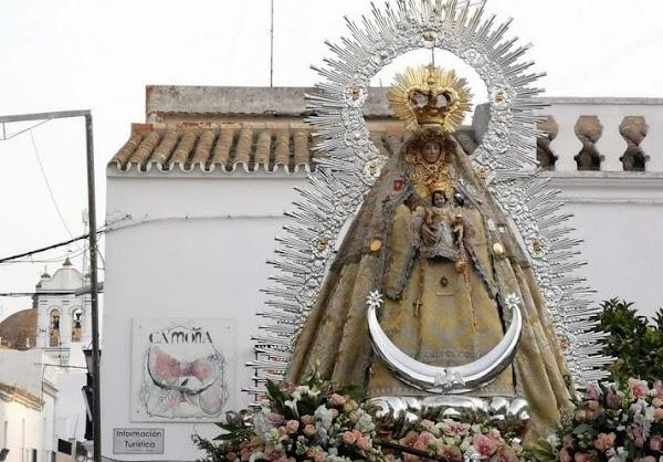 Trebujena: La Virgen de Palomares salió a la calle este domingo