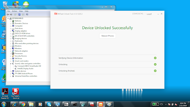 Cara Unlock Bootloader Xiaomi Redmi Note 3 100% mudah