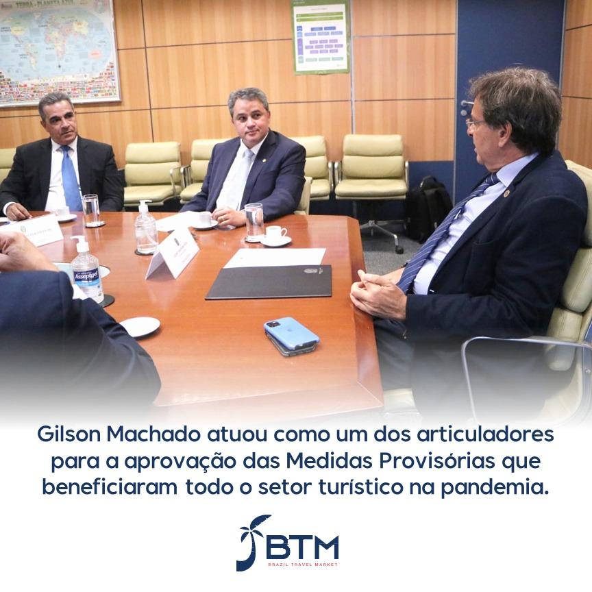 BTM realiza visita institucional ao Ministro do Turismo Gilson Machado