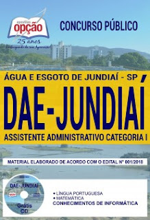 Baixar Apostila DAE Jundiaí 2018 PDF