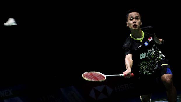 Pebulu Tangkis Ginting Menang Mudah Atas Chen Long Di BWF World Tour Final 2019