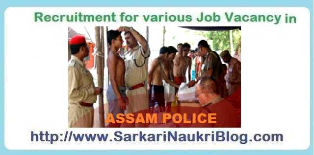 Assam Police Recruitment