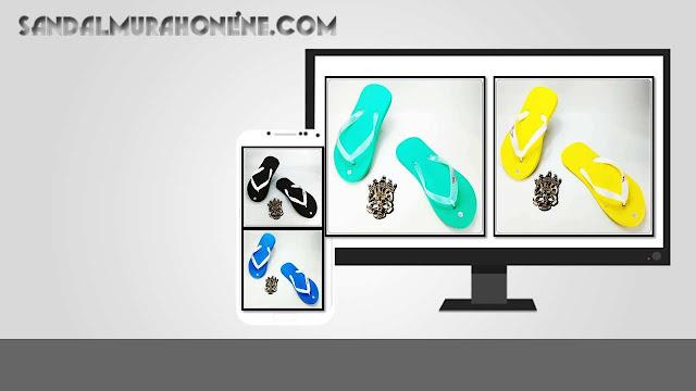 Distributor Sandal- Sandal Jepit SPON ABBE Polos Warna PRIA