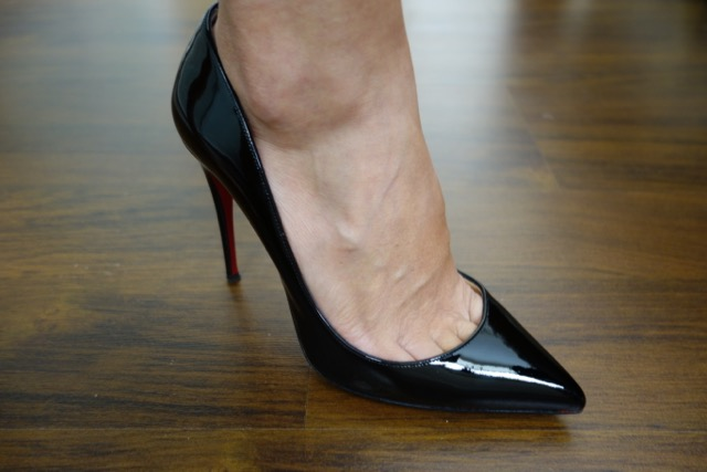 louboutin pigalle black 100mm