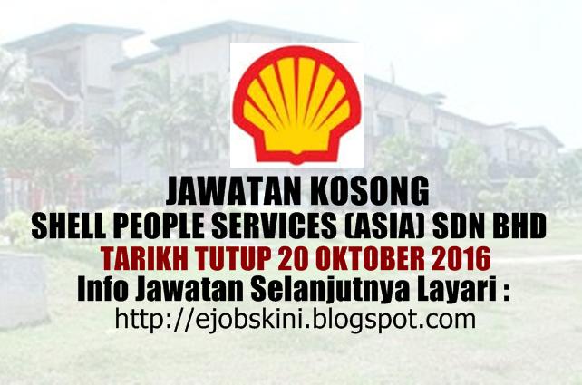 Jawatan Kosong Shell People Services (Asia) Sdn Bhd Oktober 2016