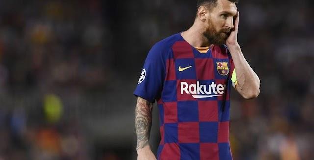 قرار انسحاب ميسي عن برشلونة