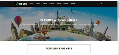 Turismo e Viagens Blogger Templates
