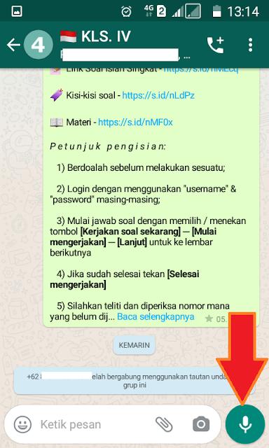 kirim pesan suara WhatsApp