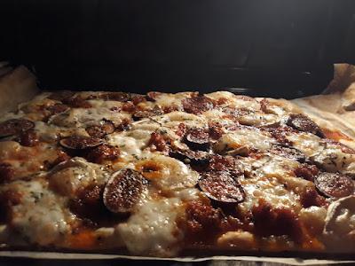 Pizza de figues amb sobrassada