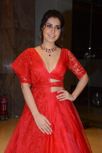 Raashi Khanna Hot Photos In Red Dress New Look, hd wallpapers for download, heroines hot pics