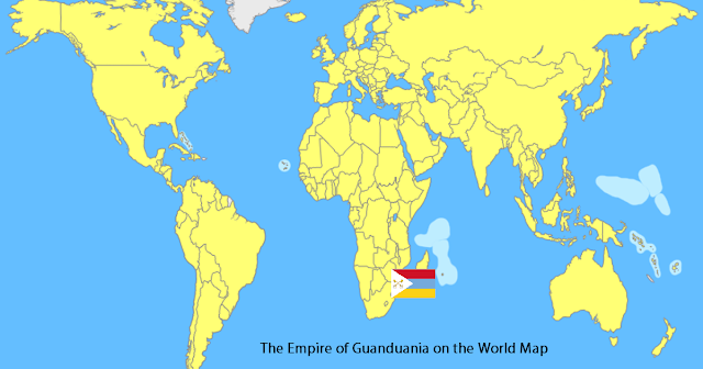 The Empire of Guanduania on the World Map