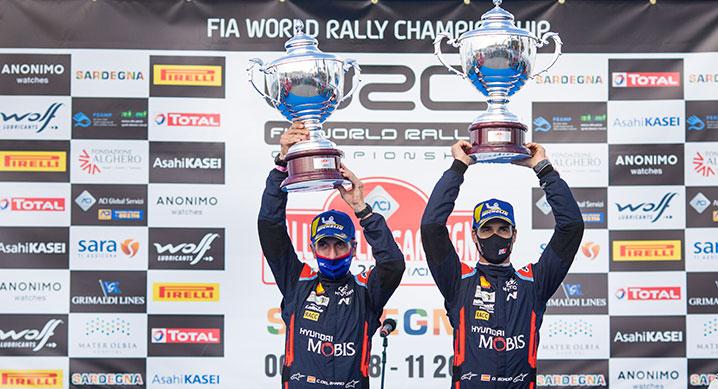 현대자동차, 2020 WRC 6차 이탈리아 랠리 우승