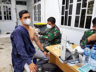 Lantamal I Laksanakan Pekan Serbuan Vaksinasi Kepada Masyarakat Maritim Kota Medan