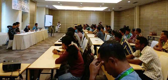 Badan Pusat Statistik (BPS) Provinsi Maluku mengadakan pelatihan petugas pencacah dan pengawas pendataan Potensi Desa (Podes), guna mempersiapkan petugas dan menjamin kualitas data BPS di Hotel Shantika dan Hotel Amaris.