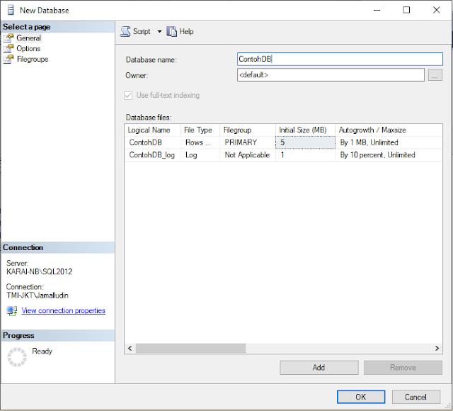 New Database SQL