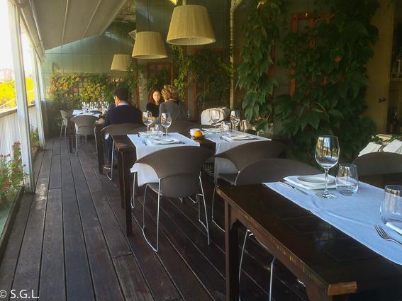 Restaurante Baita Gaminiz. Terraza. Bilbao