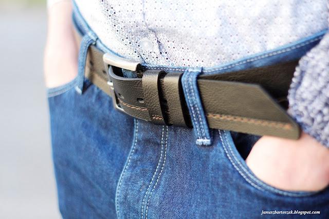 skórzany pasek do jeansów