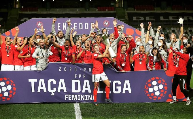 Benfica conquista Taça da Liga Feminina 2020/21