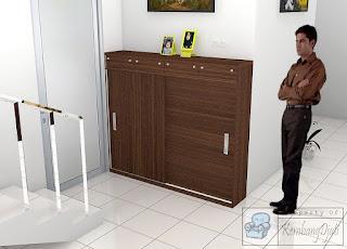 Lemari Pakaian Dengan Meja Rias | Rak Sepatu Pintu Geser + Furniture Semarang