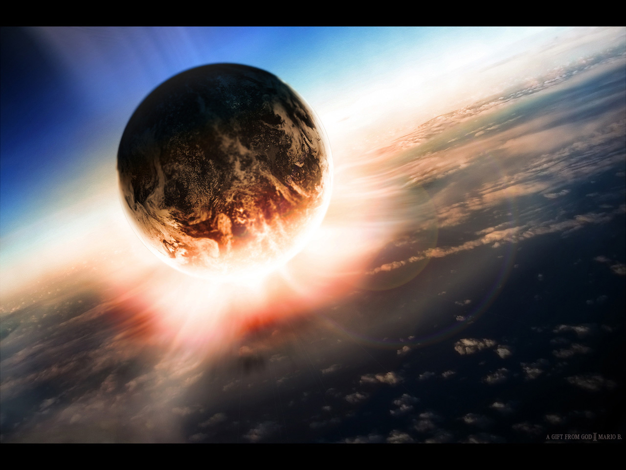 Free Cool Wallpapers: 3d Planets Background