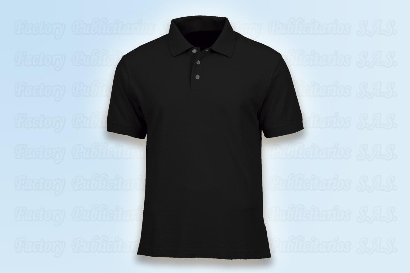 Polos personalizadas negras