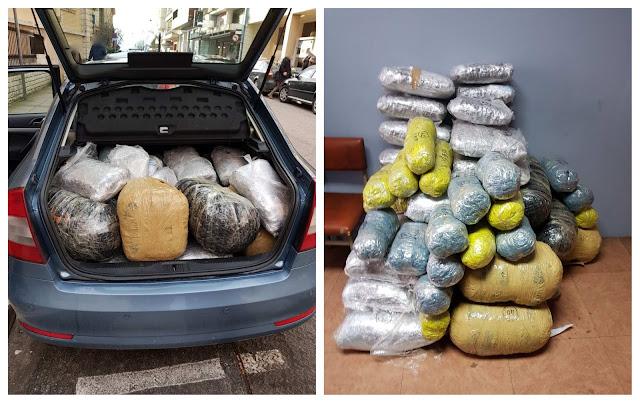 Συνελήφθη μετά από καταδίωξη 22χρονος έμπορος ναρκωτικών, με 122 κιλά κάνναβης