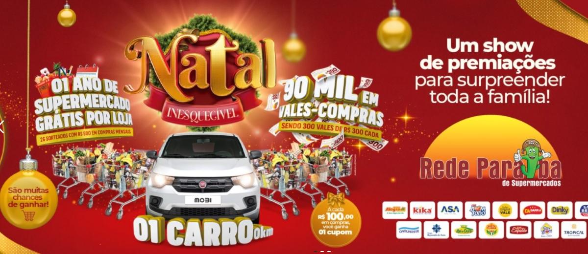 Promoção Natal 2021 Rede Paraíba Supermercados
