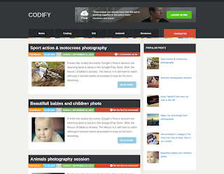 Codify free Blogger Template