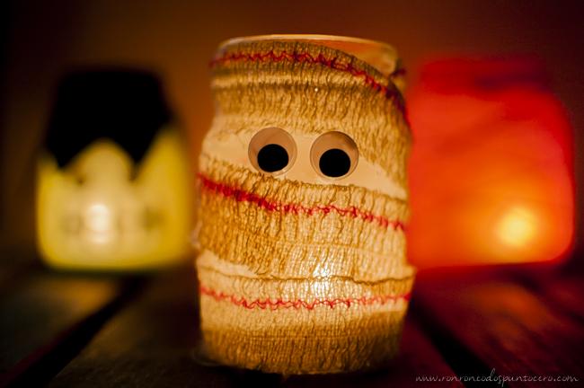Tarro Halloween Momia