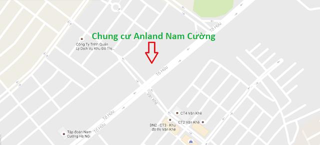 Vị trí dự án chung cư Anland Nam Cường